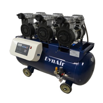 Dynair Silent Oil-free Air Compressor for Dental Lab Industry Digital Control Model Multipurpose