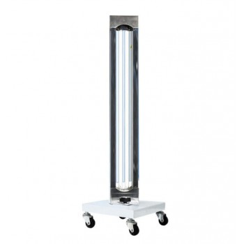 150W Mobile UV + Ozone Disinfection Trolley UVC Lamp Sterilization Lamp Ultraviolet Germicidal Light