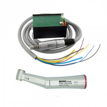 BEING Dental Built in Electric Motor LED 1:5 Contra Angle Fiber Optic Handpiece
