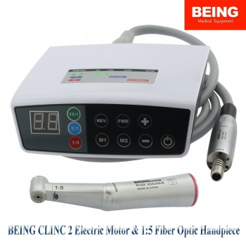 BEING Dental Brushless Electric Micro Motor LED Handpiece 4 Hole 1:5 Fit KaVo