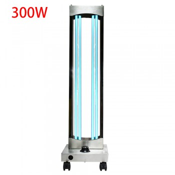 300W UV Ozone Sterilizer Wheel Germicidal Lamp Professional UVC Light Sterilization Hospital Disinfection with Radar Sensor