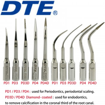10Pcs Woodpecker DTE Dental Ultrasonic Scaler Tips Endodontics Periodontal Fit NSK Satelec