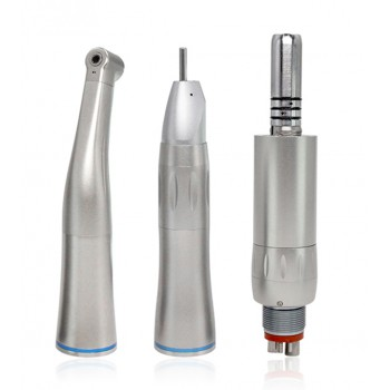 LY-14A Dental low speed handpiece kit 1Pcs contra-angel+1Pcs straight handpiece +1Pcs air motor