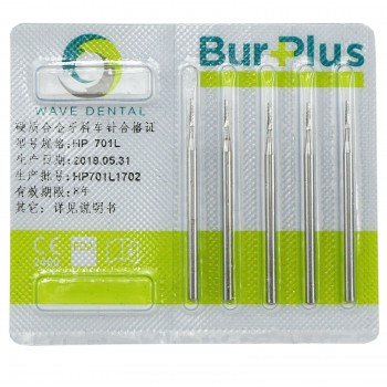 5 Boxes SBT Dental Carbide Long Burs HP 699L 701L 703L Taper Flat End Crosscut Low Speed