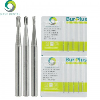 5Packs Wave Dental Tungsten Carbide Bur Crown Removal Midwest Pear FG 330 331 332