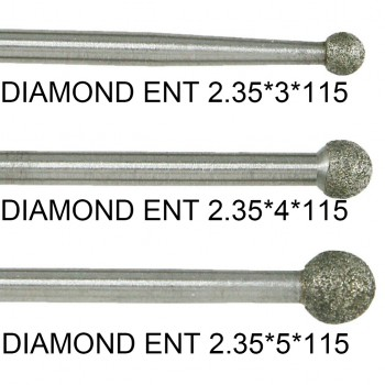 2Pcs Dental Diamond ENT Cuting Burs for COXO CX235-2S1/2S2
