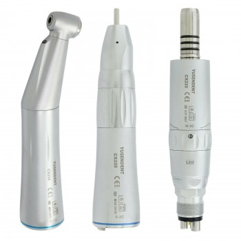 YUSENDENT COXO CX235-1C Fiber Optic LED Low Speed Contra Angle Air Motor Handpiece Kit