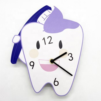 Dental Wall Clock for Dental Clinic Tooth Shape Wall Clocks Dentist Gift