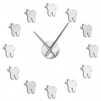 Dental Office DIY Large Wall Clock Tooth Shape Wall Clocks Dentist Gift