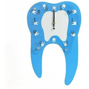 Tooth Shape Wall Clock for Clinic Decoration