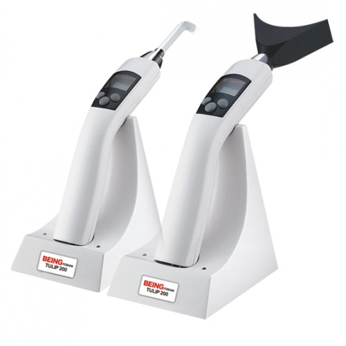 Being Wireless Dental LED Curing Light with LCD Display Tulip 200AB 1800mW/cm²