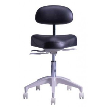 TPC Dental HY-5107 Mirage Hygienist Stool with Adjustable Backrest