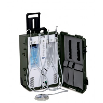 TPC PC2630 Self Contained Portable Dental Delivery Unit System with Air Compressor +3 Way Syringe
