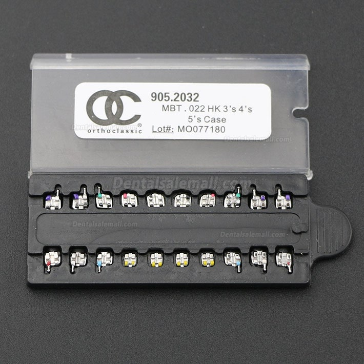 100 Packs OC Dental Orthodontic Metal Bracket Braces MIM Mini Roth MBT 018 022 345