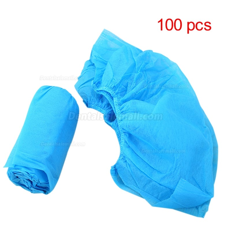 100Pcs Boot Shoes Covers Fabric Disposable Overshoes Medical Indoor Carpet Floor Blue Non-woven Fabric Shoe Cover