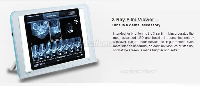 HISHINE® Dental Luna X-ray Film Reader LED Specific Wall Desk Mounting