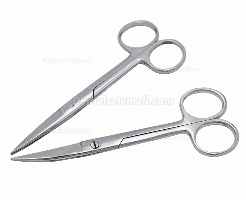 14cm/16cm/18cm Stainless Steel Surgical Scissors Straight Curved Tip Head Scissors Forceps for Dental Clinic