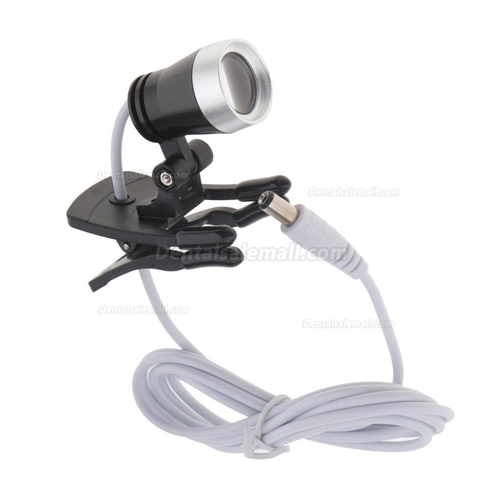Portable Clip Clamp LED Head Light Lamp for Dental Binocular Loupes Glasses