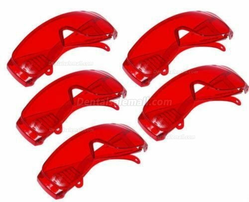 5PCS Red Goggles Glasses for Curing Light Teeth Whitening Eyewear Safety