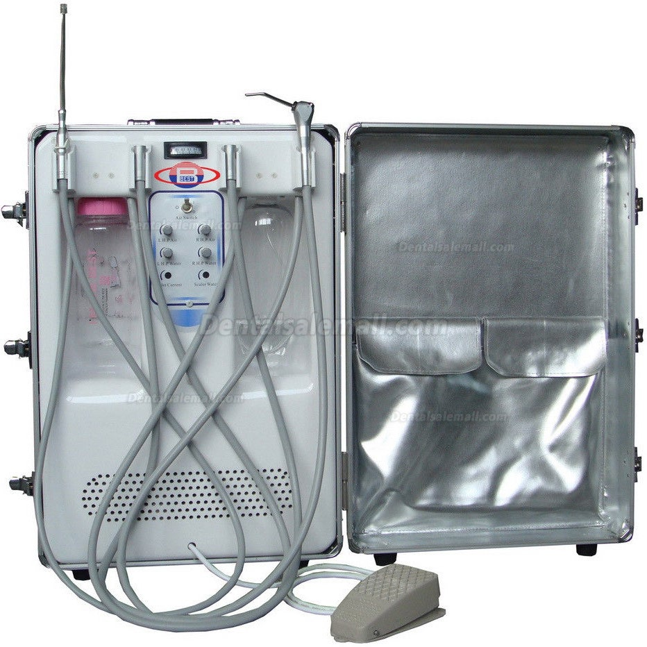 Best® BD-406A Portable Dental Turbine Unit(Air Compressor+Suction System+Triplex Syringe)