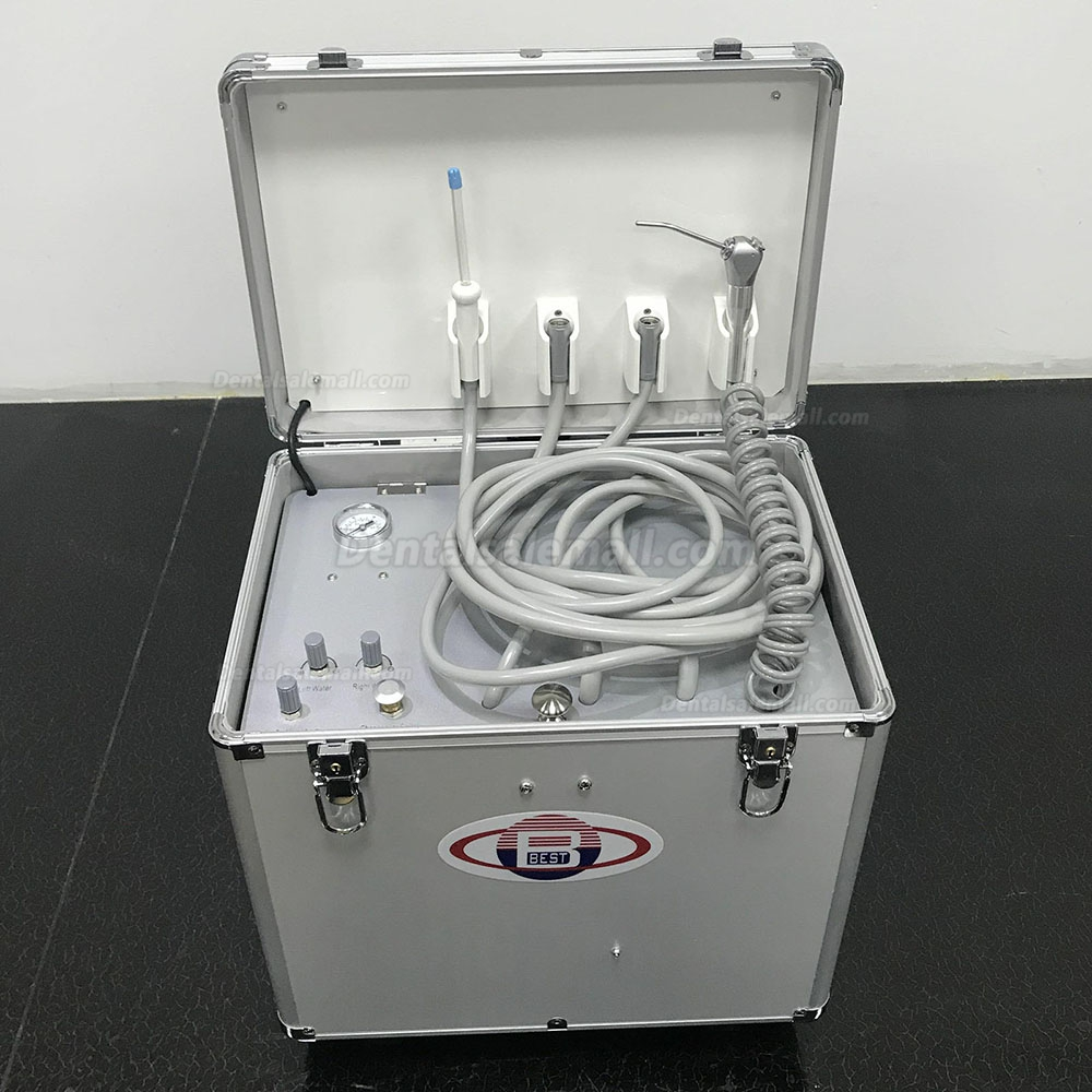 Best® BD402A Portable Dental Turbine Unit(Air Compressor + Suction + Triplex Syringe)