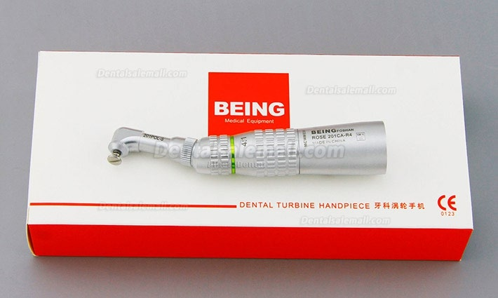 BEING® ROSE 201CA-R4 Dental 4:1 Screw In Prophy Hygiene Contra Angle Handpiece