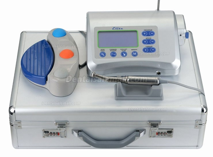 Victory® Elite V-DIM-I Dental LCD Brushless Surgical Implant Drill Motor Machine System +Handpiece+Foot Control