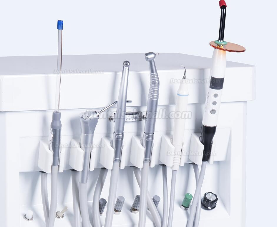GREELOY GU-P209 Dental Delivery Unit Mobile Cart Self-contained Air Compressor+ Scaler+ LED Curing Light