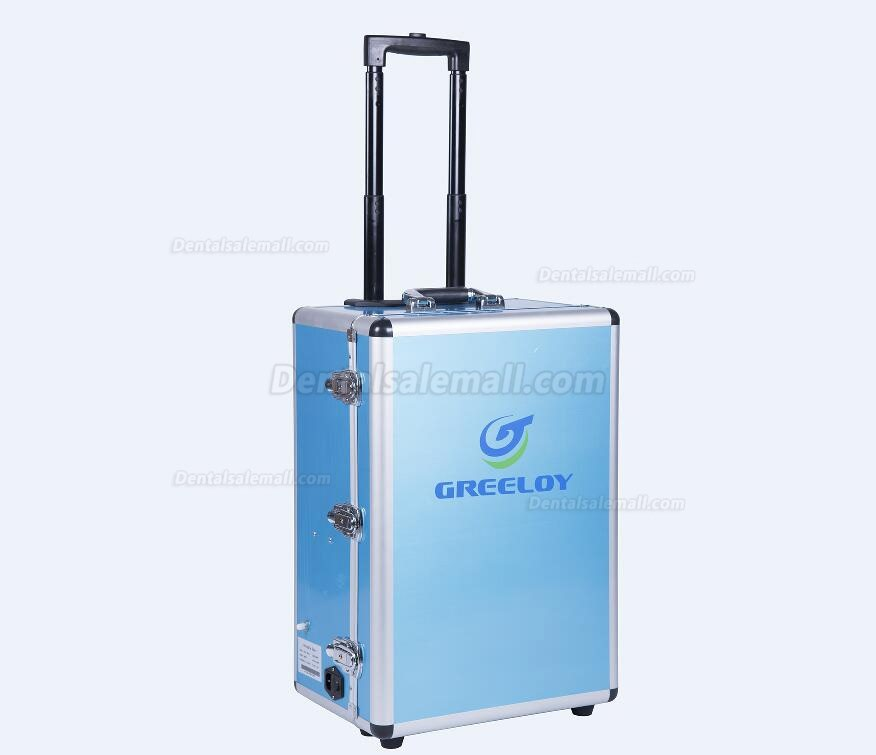 GREELOYP®204 Portable Dental Unit & Air Compressor Fiber Optic Handpiece Pipes 4 Holes