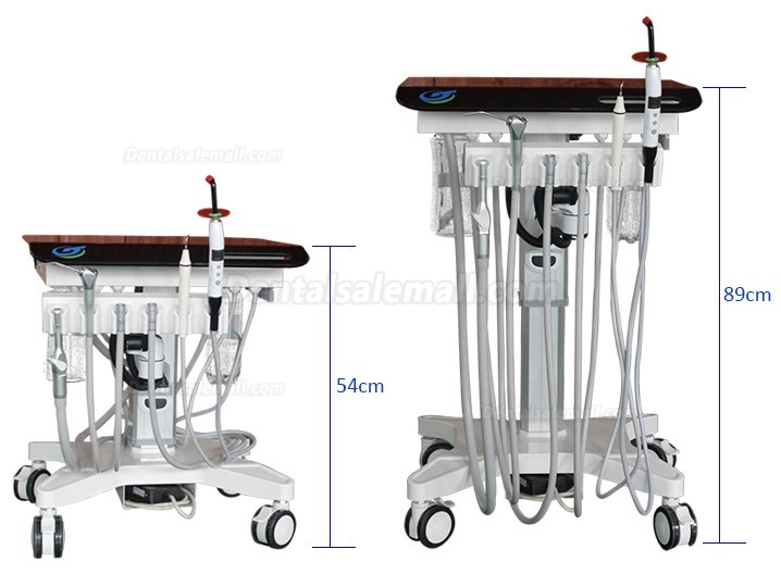 Greeloy GU-P302S Adjustable Mobile Dental Delivery Cart Unit System