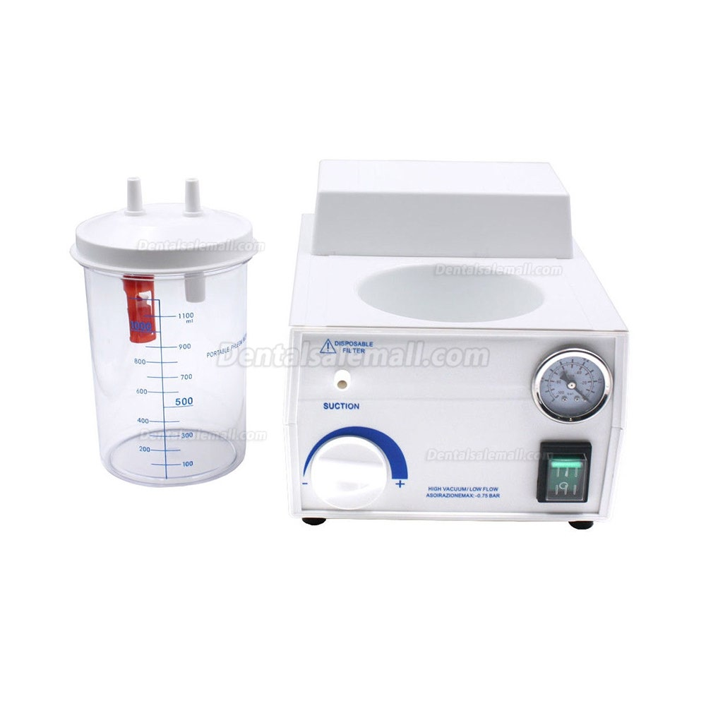 Dental Portable Suction Unit Medical Aspirator Vacuum Phlegm