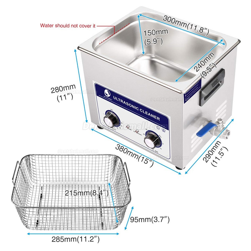 10L Stainless Industry Ultrasonic Cleaner Jewelry Tableware Watch JP-040S
