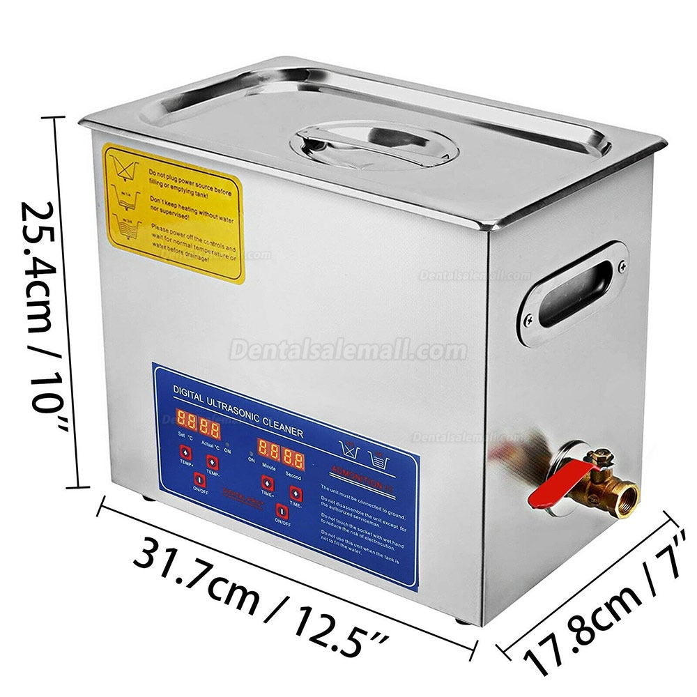 6L Stainless Steel Ultrasonic Cleaner Cleaning Machine JPS-30A 110V/220V