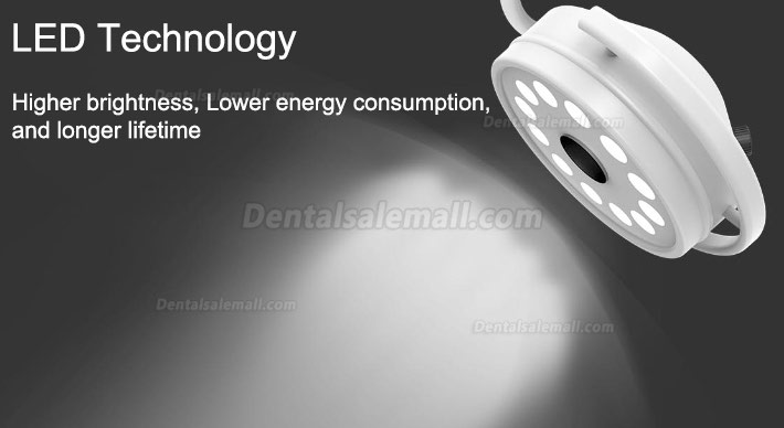 KWS® KD-2012D-3 Mobile Medical Surgical LED Shadowless Lamp (With Base, Stand Type)