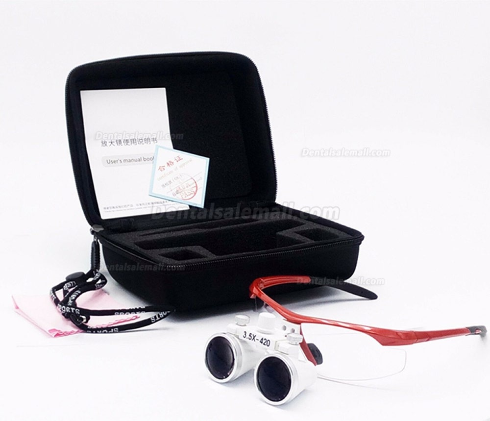 3.5X420mm Dental Surgical Medical Binocular Antifog LoupeOptical Glass