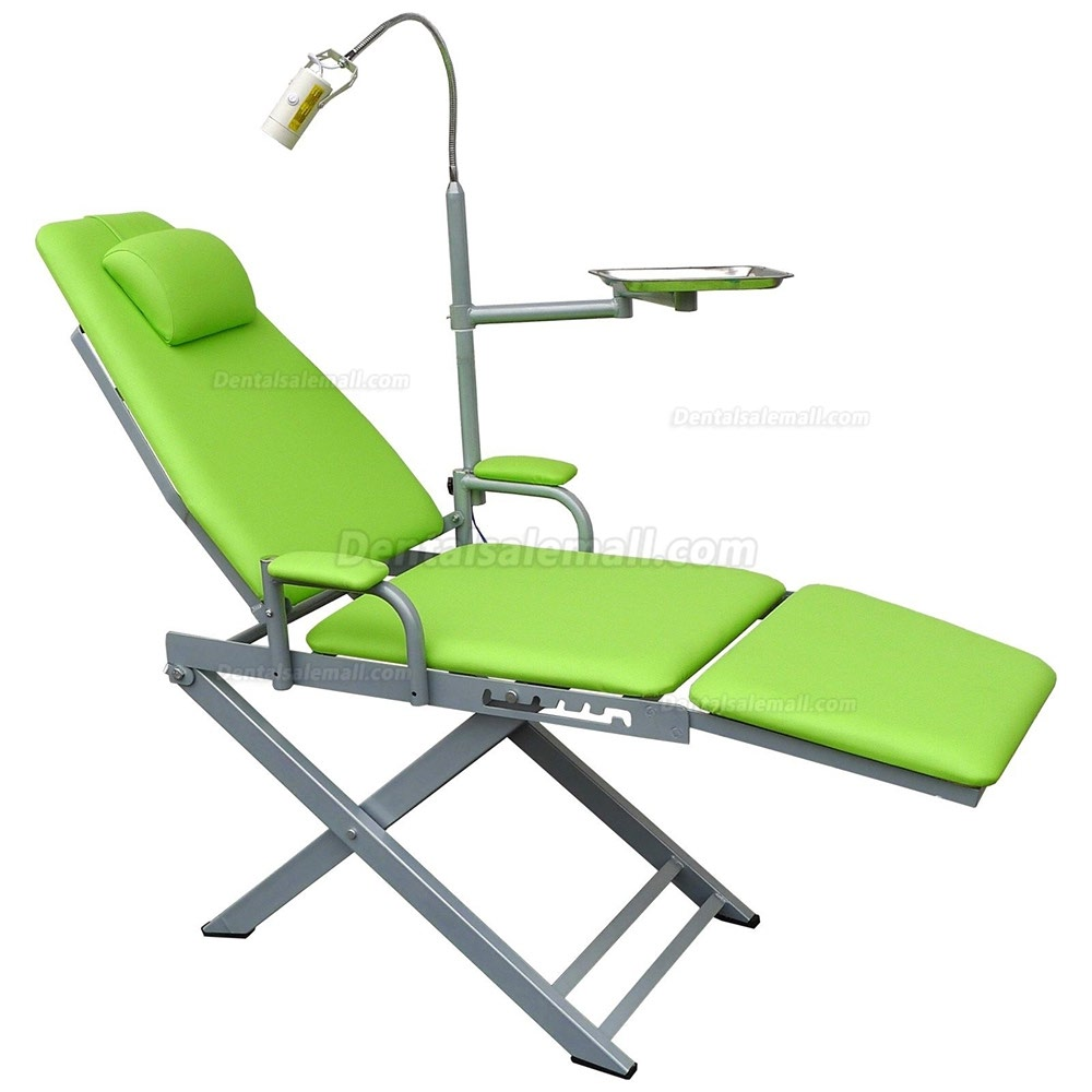 Portable Dental Mobile Chair with LED Lamp Waste Basin + Dental Turbine Unit