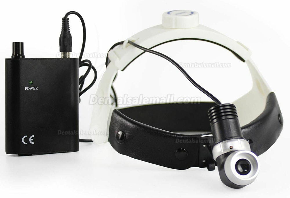 5W LED Dental Surgical Headlight Medical Headlamp JD2400 for ENT Headband Type