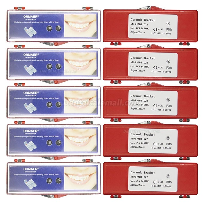 20Boxes Dental Orthodontic Ceramic Brackets Braces Roth MBT 018 022 345 Hooks