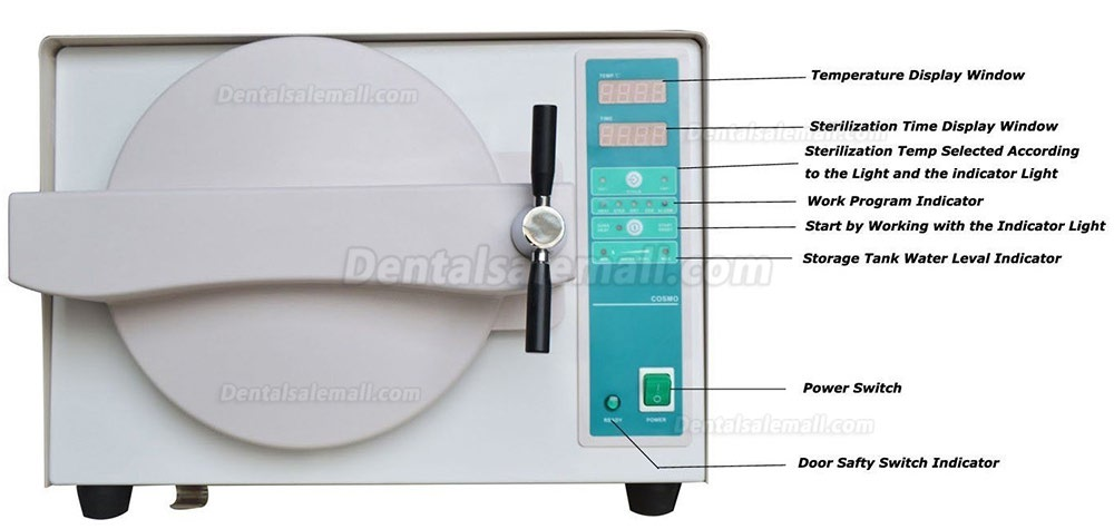 18L Dental Stainless Steel High Pressure Steam Sterilizer