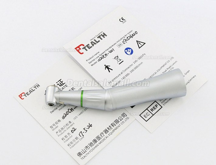Tealth 1020CH-401 4:1 Reduction Push Button Inner Water Contra Angle Handpiece