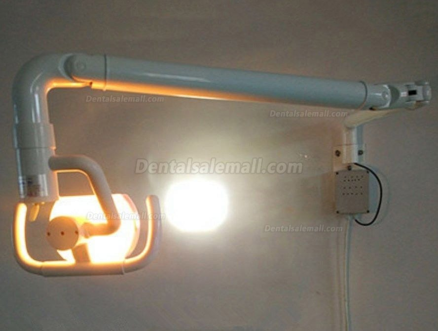 50W Wall-mounted Dental Medical Led Oral Light Lamp with Arm Shadowless Cold Light