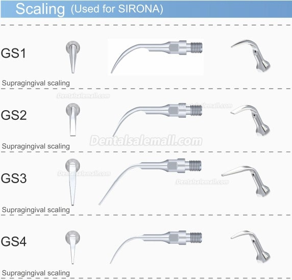5Pcs Woodpecker GS8 Scaler Scaling Tip Used For SIRONA Scaler Handpiece