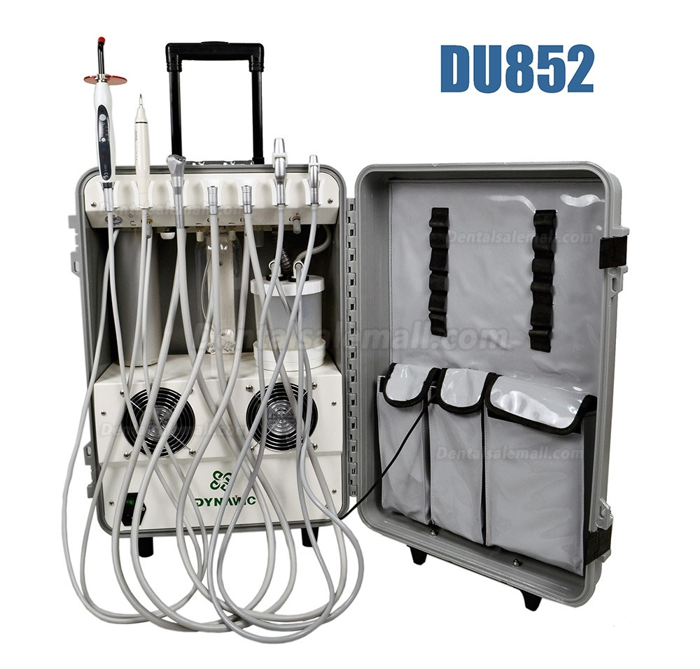 Dynamic® DU852 Portable Dental Unit Air Compressor + Ultrasonic Scaler + Curing Light