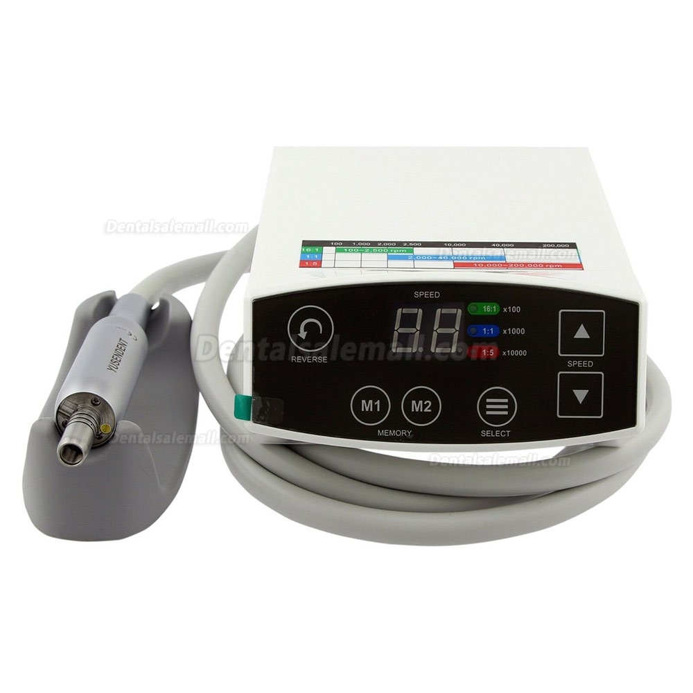 YUSENDENT COXO C PUMA Dental Electric Micro Motor +1:5 Fiber Optic Contra Angle CX235 C7-1
